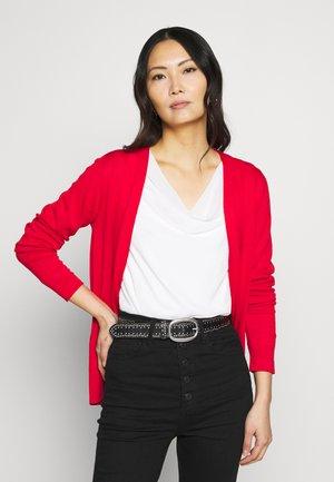LANGARM - Cardigan - luminous red