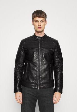 BALDO - Leather jacket - black
