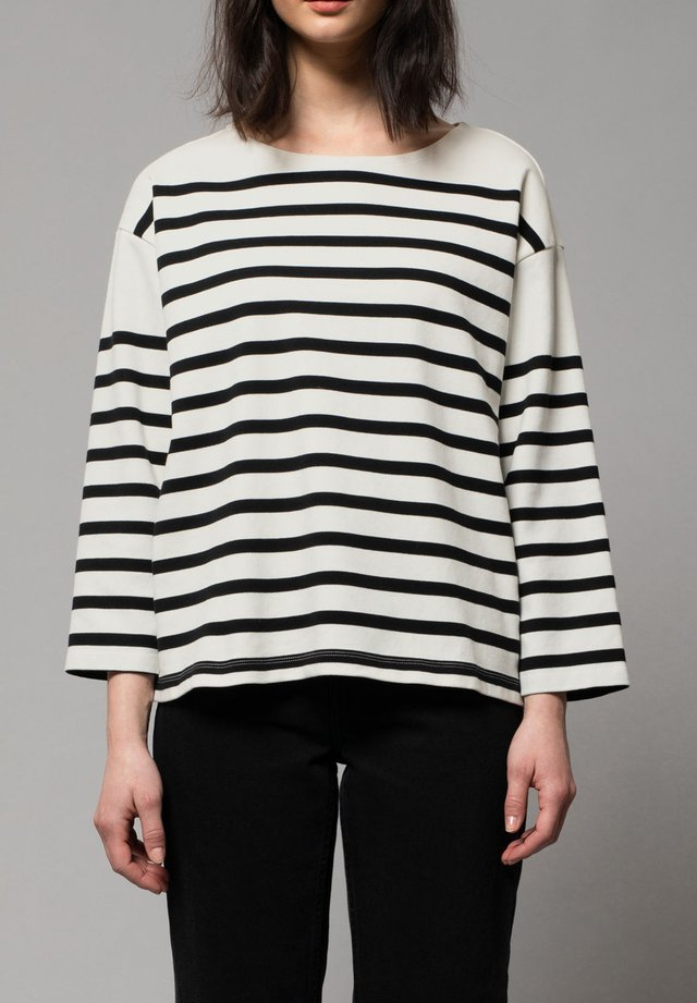 Long sleeved top - off white / black