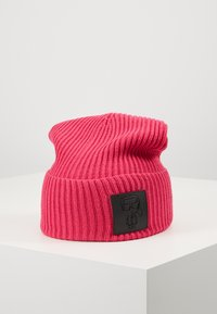 KARL LAGERFELD - IKONIK PATCH BEANIE - Czapka - pink - 0