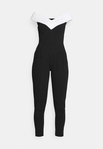 JESSIE JAYNE CONTRAST - Jumpsuit - black/white