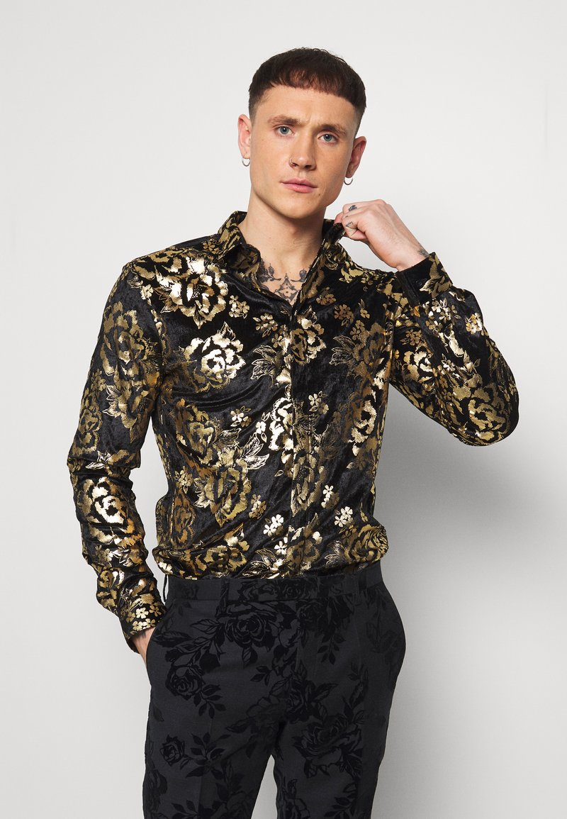 Twisted Tailor - HARTFIELD  - Shirt - black/gold
