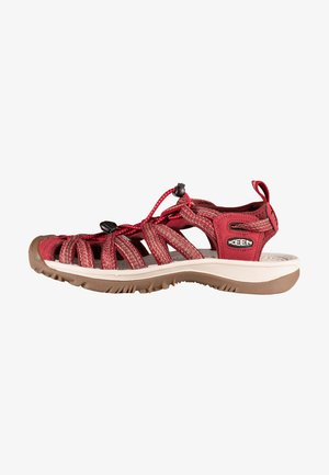 Walking sandals - red dahlia