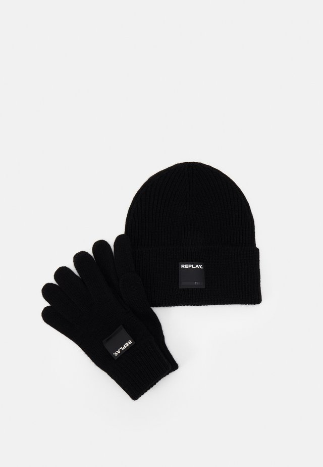 GLOVE HAT SET - Fingervantar - black