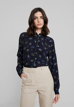 Button-down blouse - blau/gruen