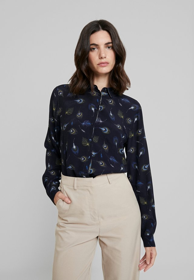 Button-down blouse - blau/gruen