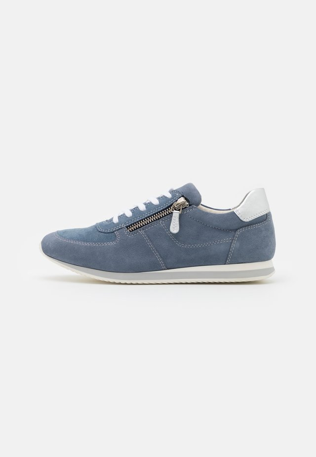 LEATHER - Trainers - blue