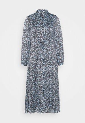 MIDI DRESS - Shirt dress - dark chocolate/ice blue