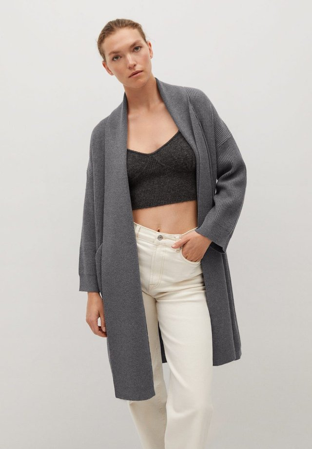 Chaqueta de punto - medium heather grey