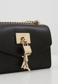 DKNY - ELISSA SHOULDER FLAP - Across body bag - black - 6
