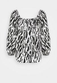 Bruuns Bazaar - BELL NARA BLOUSE - Blouse - black/white - 0