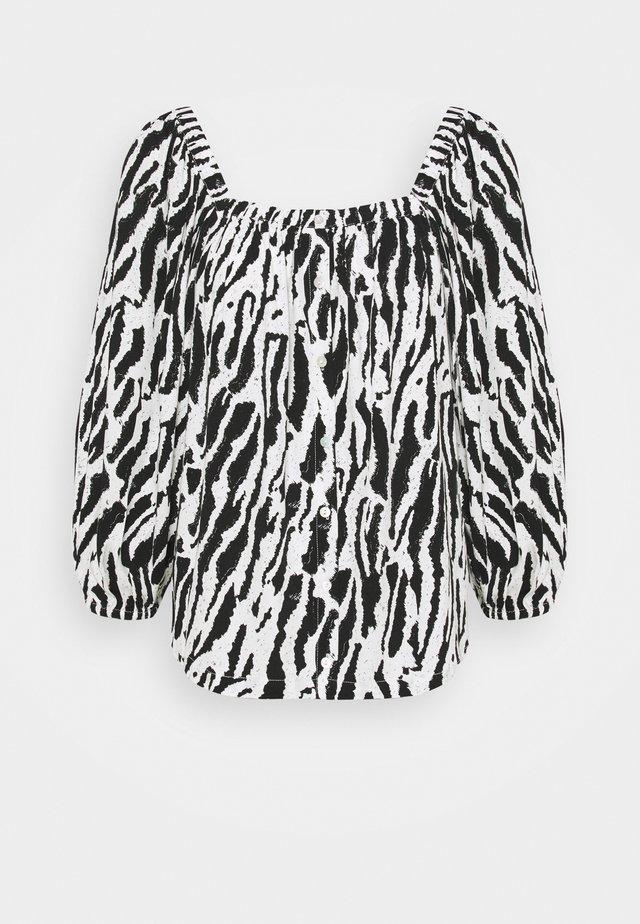 BELL NARA BLOUSE - Blouse - black/white