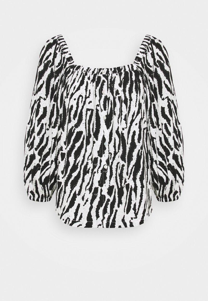 Bruuns Bazaar - BELL NARA BLOUSE - Blouse - black/white
