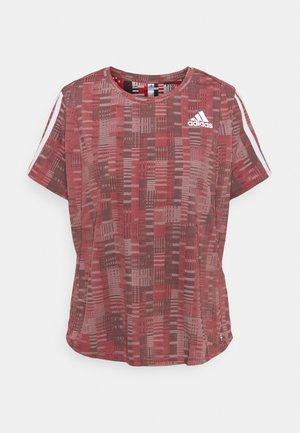 TEE - Print T-shirt - scarlet/white