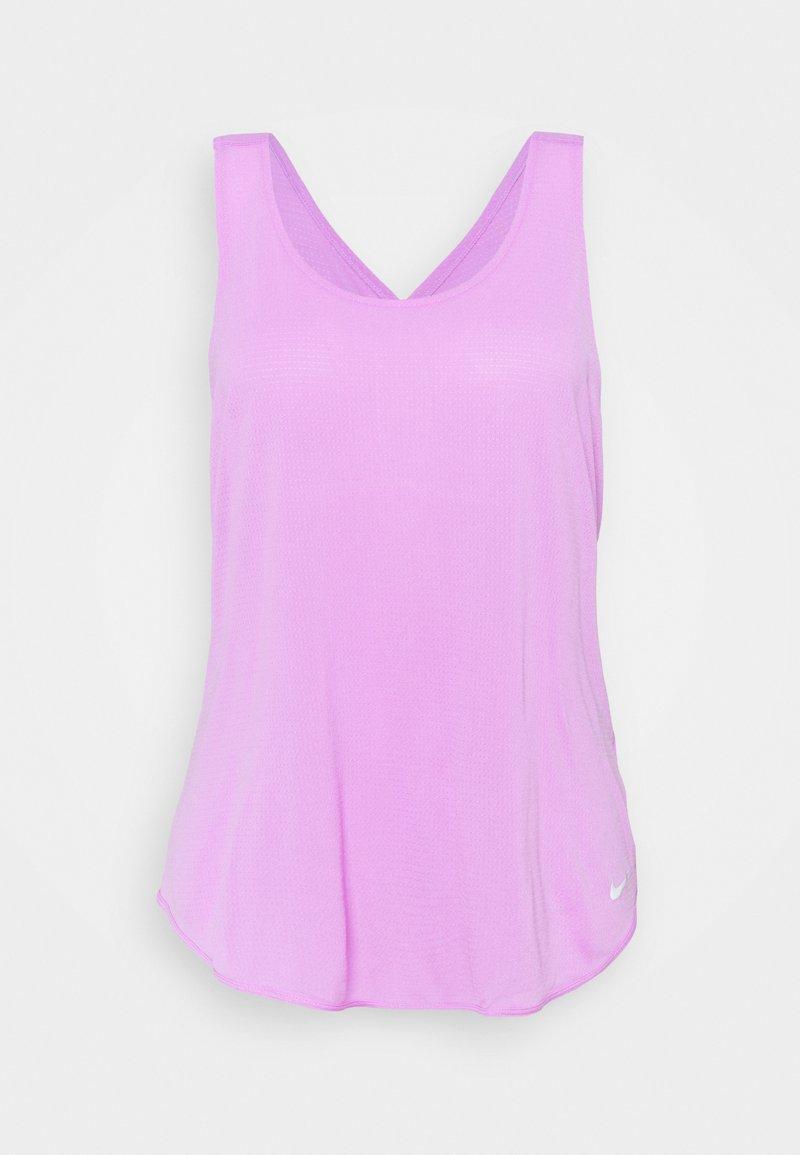 Nike Performance - BREATHE TANK COOL PLUS - Topper - fuchsia glow/reflective silver