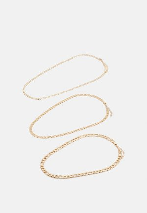 PCFAKIRA COMBI NECKLACE 3-Pack - Kaulakoru - gold colour
