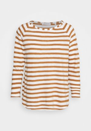 HEAVY LONGSLEEVE STRIPED - Long sleeved top - toffee