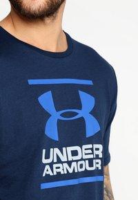 Under Armour - FOUNDATION - Print T-shirt - academy/steel/royal - 4