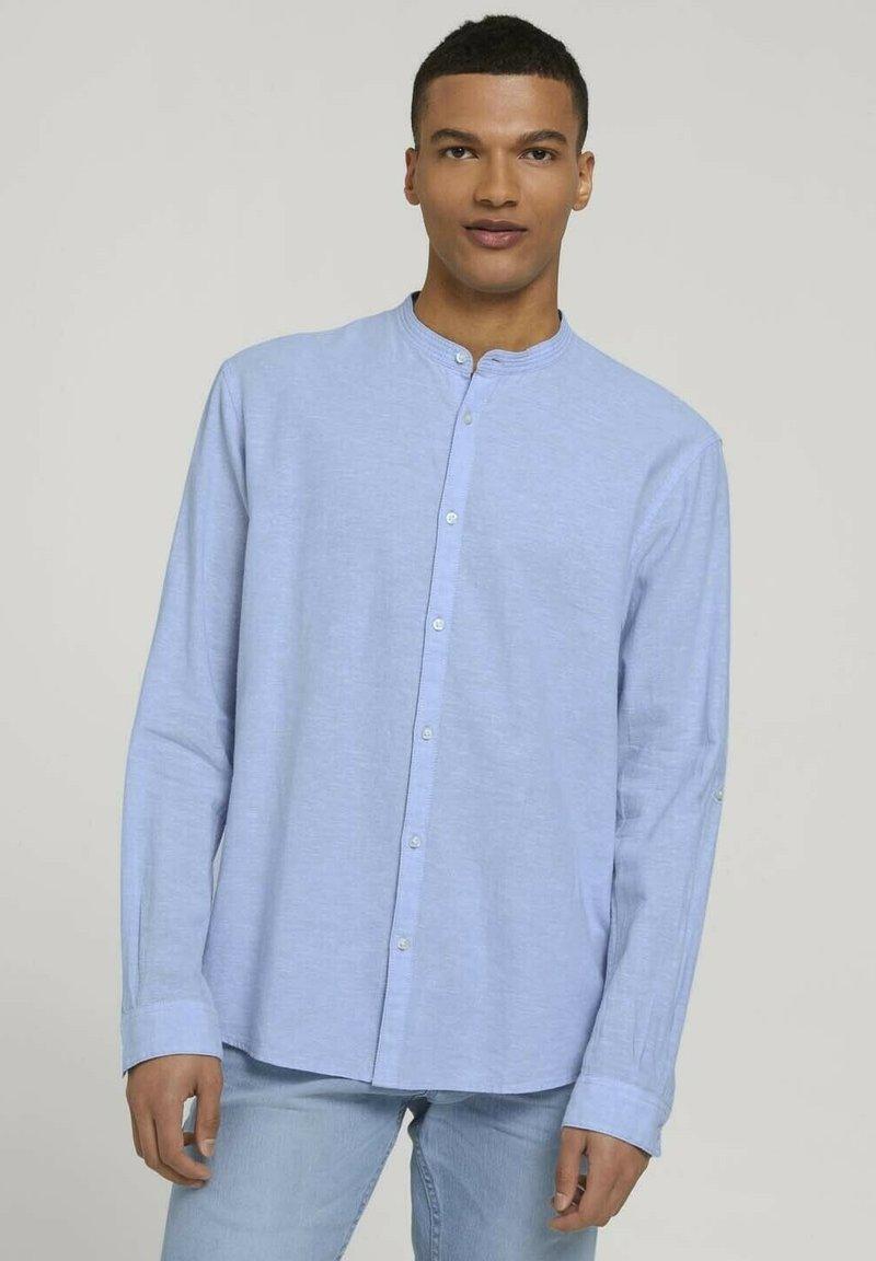 TOM TAILOR DENIM - Camisa - light blue white chambray