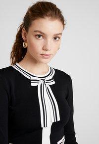 Morgan - Abito in maglia - noir/off white - 4