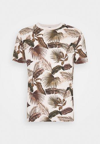 CREW NECK TEE WITH SEASONAL ALL OVER PRINT - Print T-shirt - combo