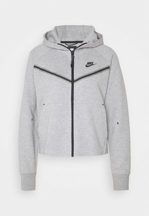 Kardigan - dk grey heather/black