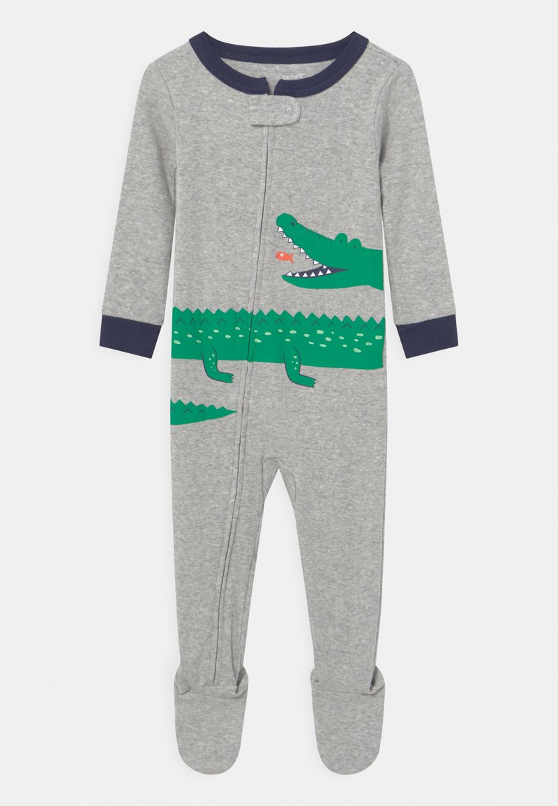 Carter's - GATOR - Sleep suit - mottled grey/green