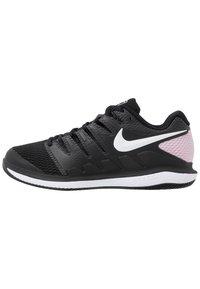 Nike Performance - NIKECOURT AIR ZOOM VAPOR X - Multicourt tennis shoes - black/white/pink foam - 0