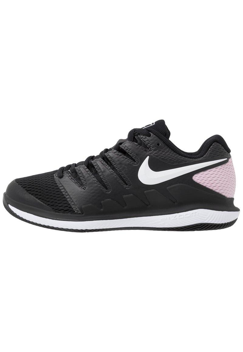 Nike Performance - NIKECOURT AIR ZOOM VAPOR X - Multicourt tennis shoes - black/white/pink foam