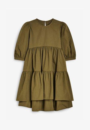 TIERED PUFF SLEEVE - Robe d'été - olive