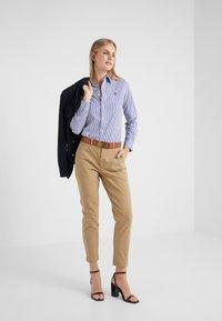 Polo Ralph Lauren - STRETCH  SLIM FIT - Button-down blouse - blue/white - 1