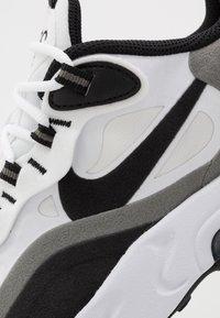 Nike Sportswear - AIR MAX 270 REACT - Trainers - white/black/metallic pewter - 5
