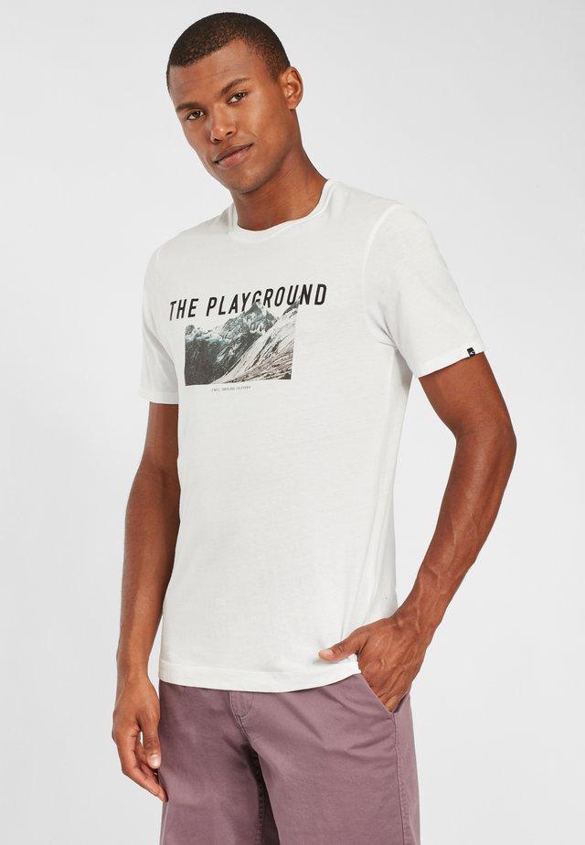 PLAYGROUND - T-shirt imprimé - powder white