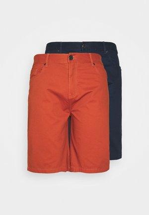 BIG TALL 2 PACK - Shorts - navy/cognac