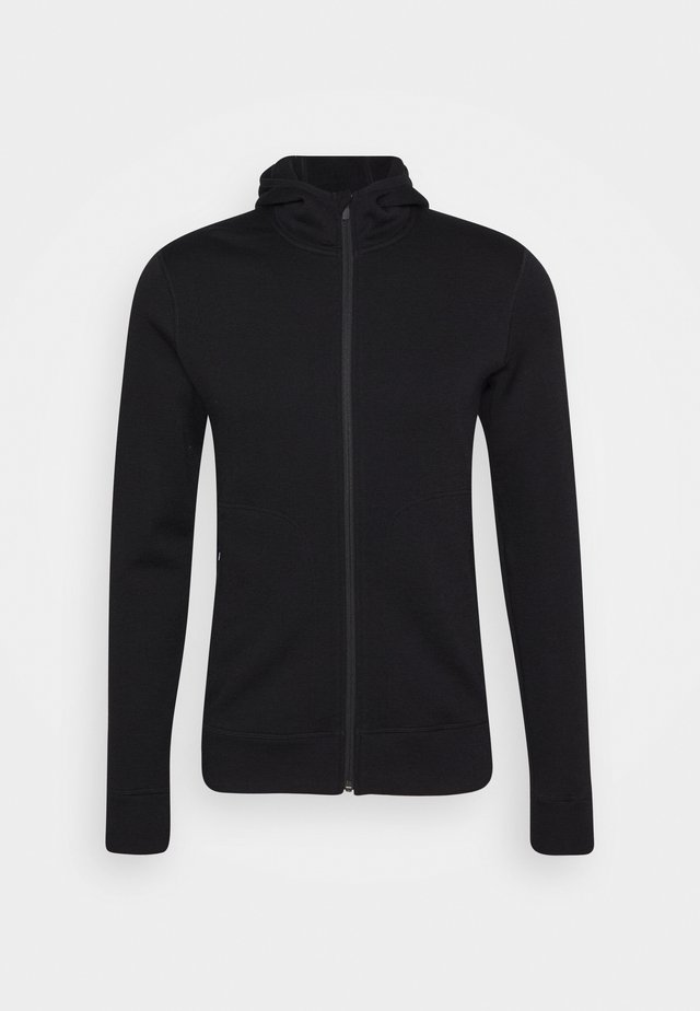 ELEMENTAL LONG SLEEVE ZIP HOOD - Collegetakki - black