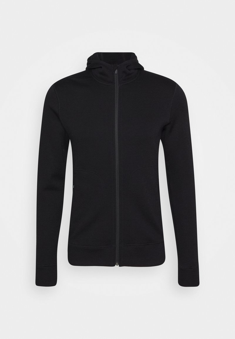 Icebreaker - ELEMENTAL LONG SLEEVE ZIP HOOD - Zip-up hoodie - black