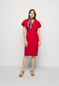 Lauren Ralph Lauren - LUXE TECH DRESS - Denní šaty - orient red - 1