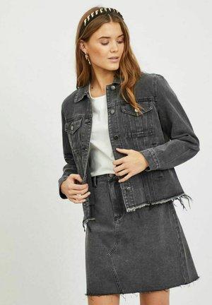 DESTROYED - Denim jacket - dark grey denim