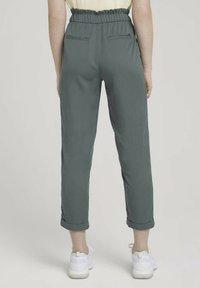 TOM TAILOR DENIM - Trousers - dusty pine green - 2