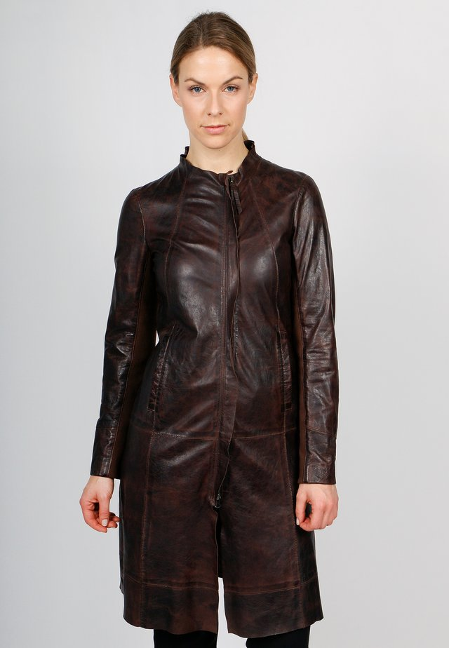 LADY Z-FN - Leather jacket - brown