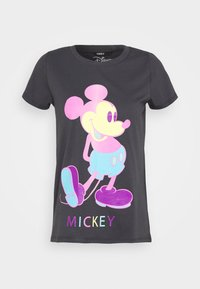 ONLY Petite - ONLMICKEY - Print T-shirt - grey - 4