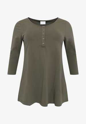 WITH BUTTONS - Long sleeved top - green