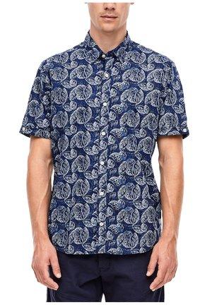 REGULAR FIT: GEMUSTERTES KURZARMHEMD - Shirt - blue aop