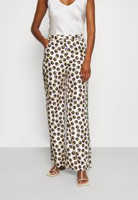 Tory Burch - REVA PAJAMA PANT - Trousers - off-white - 0