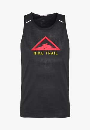RISE 365 TANK TRAIL - Sports shirt - black/laser crimson