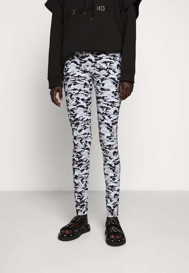 CAMO - Leggingsit - white/grey/multi