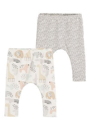 2 PACK GOTS ORGANIC STRETCH LEGGINGS - Leggings - white