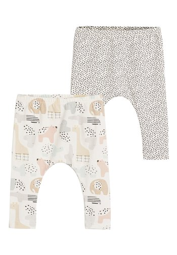 2 PACK GOTS ORGANIC STRETCH LEGGINGS - Leggings - Trousers - white