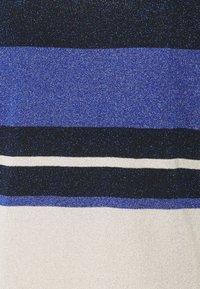 TWINSET - MAGLIA LUREX BLOCK - Top - blue\indaco - 2