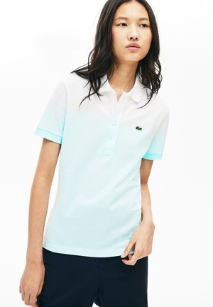 Poloshirt - turquoise/light green/white